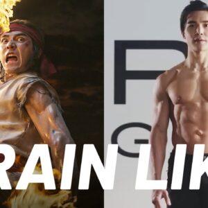 Mortal Kombat's Ludi Lin 'Liu Kang Fireball Workout' | Train Like a Celebrity | Men's Health
