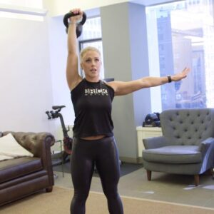Spice Up Your Lunges with a Kettlebell Press