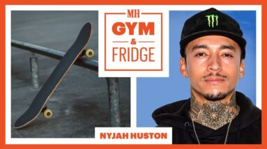 Nyjah Huston Shows His Home Gym & Fridge | Gym & Fridge | Men's Health